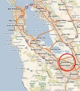 Santa Clara und Sunnyvale liegen in der Bucht von San Francisco.