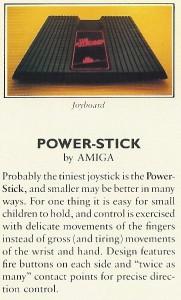 Amiga Joyboard für das Atari VCS, aus einer Zeit als Amiga noch von Atari bezahlt wurde